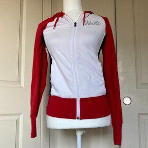 Red White Black Women's Nike Zip Up Hoodie